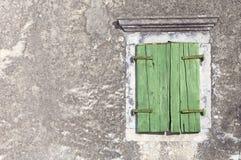 Zielony okno Zdjęcia Royalty Free