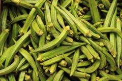 Zielony Okra warzywo Zdjęcie Royalty Free