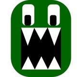 Zielony Okropny potwór ilustracja wektor