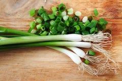 Zielony onions Zdjęcie Stock