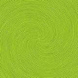 Zielony opromieniony tło z kółkowym zawijasa, helix lub skręta tłem z round okulistycznym złudzeniem, halucynacja ilustracja wektor