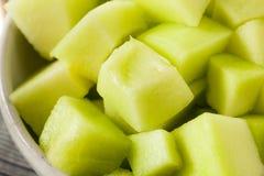 Zielony Organicznie miodunka melon Fotografia Royalty Free