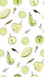 Zielony owoc wzór Obrazy Stock
