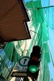 zielony oznacza iść naprzód Zdjęcia Royalty Free