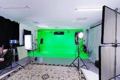 Zielony Parawanowy studio obraz royalty free