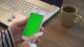 Zielony Parawanowy telefon zbiory