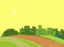 Zielony park Zdjęcie Stock