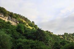 Zielony pasmo górskie krajobraz w lecie Obraz Stock