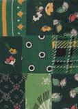 zielony patchwork Zdjęcia Royalty Free