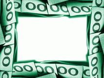 zielony pieniądze Zdjęcia Royalty Free
