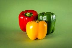 zielony pieprz czerwone żółty fotografia royalty free