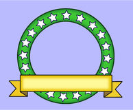 Zielony pierścionek z żółtym sztandarem Zdjęcie Royalty Free