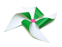 Zielony pinwheel Obraz Stock