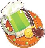 Zielony piwo dla st.Patricks dnia. royalty ilustracja