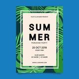 Zielony Plakatowy lato raju szablon obrazy royalty free
