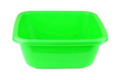 Zielony plastikowy basen Zdjęcia Royalty Free