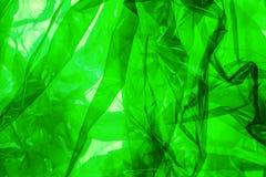 zielony plastiku opończy Obrazy Stock
