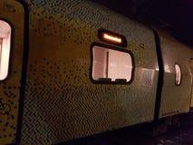 zielony pociąg Zdjęcia Stock