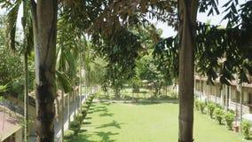 Zielony podwórze hotel w Asia Wioska w Chitwan parku narodowym, Nepal zbiory