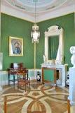 Zielony pokój w Gatchina pałac Obraz Stock
