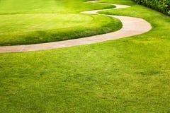 Zielony pole golfowe sport, grać w golfa wakacje obraz royalty free