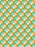 Zielony pomarańczowy okrąg Fotografia Stock