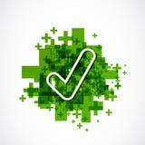 Zielony pozytyw zatwierdza znaka Zdjęcie Royalty Free