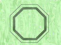 Zielony próbny wzór z geometryczną ramą obrazy royalty free