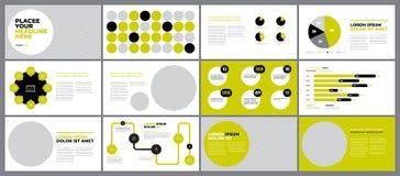 Zielony prezentacja projekt ilustracja wektor