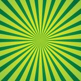 Zielony promienia tło Zdjęcia Stock