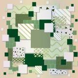Zielony prostokąta tło Ilustracja Wektor