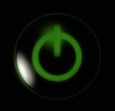zielony przycisk moc Obrazy Royalty Free