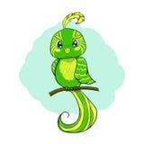 Zielony ptak Obrazy Royalty Free