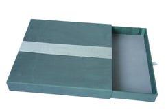 Zielony pudełko na bielu zdjęcia stock