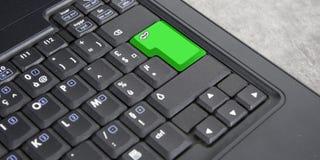 zielony pusty komputerowej klawiatury guzik zdjęcia royalty free