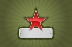 zielony ramowy czerwonej gwiazdy wektora royalty ilustracja