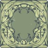 zielony ramowy rocznik Zdjęcia Royalty Free