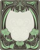 zielony ramowy rocznik Zdjęcie Stock