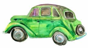 Zielony retro samochód Obrazy Royalty Free