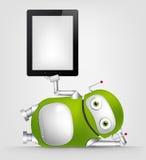 Zielony robot Obrazy Stock