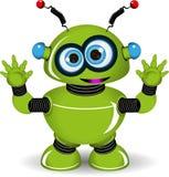 zielony robot ilustracji