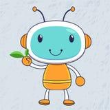 zielony robot ilustracja wektor