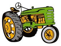 zielony rocznik ciągnika royalty ilustracja