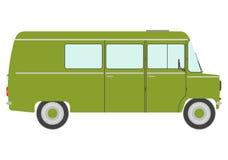 Zielony rocznika samochód dostawczy Zdjęcia Stock