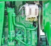 Zielony rolny ciągnik Obraz Stock