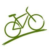 Zielony rower Zdjęcie Stock