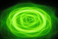 Zielony rozjarzony koncentryczny kółkowy portal w przestrzeni royalty ilustracja