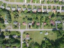 Zielony sąsiedztwo w Lynchburg zdjęcie royalty free