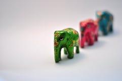 zielony słonia ornamental Zdjęcia Stock