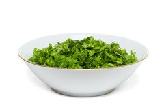 zielony sałatkowy warzywo Fotografia Royalty Free